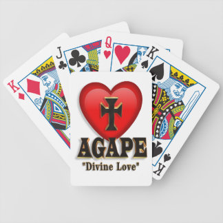 Agape heart symbol for God s divine love Bicycle Playing Cards