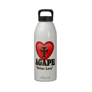 Agape heart symbol for God s divine love Reusable Water Bottle