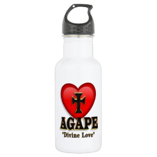 Agape heart symbol for God's divine love 532 Ml Water Bottle