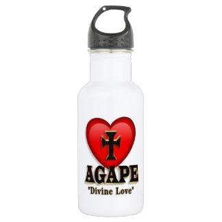 Agape heart symbol for God's divine love 532 Ml Water Bottle