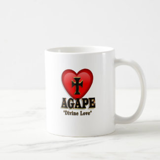 Agape heart symbol for God's divine love Basic White Mug