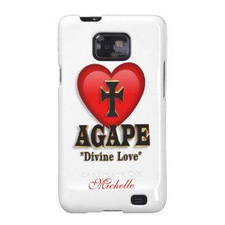 Agape heart symbol for God's divine love Galaxy S2 Cover
