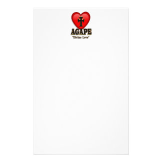 Agape heart symbol for God's divine love Personalised Stationery