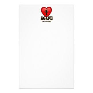 Agape heart symbol for God's divine love Personalised Stationery