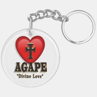 Agape heart symbol keychain