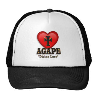 Agape heart symbol of love hat