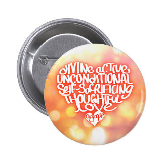 Agape Love 6 Cm Round Badge