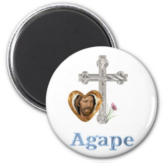 Agape Love Christian gifts 6 Cm Round Magnet