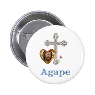 Agape Love Christian gifts Button