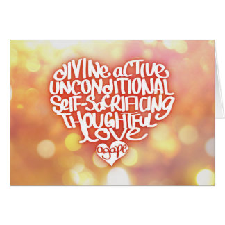 Agape Love Greeting Card