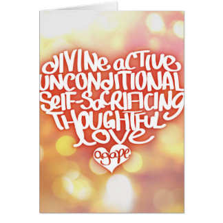 Agape Love Greeting Card
