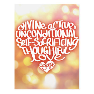 Agape Love Postcard