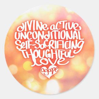 Agape Love Round Sticker