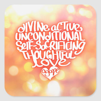 Agape Love Square Sticker