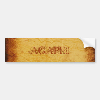 AGAPE!!... RELIGIOUS BUMPER STICKERS