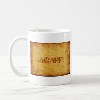 AGAPE!!... RELIGIOUS CUP BASIC WHITE MUG
