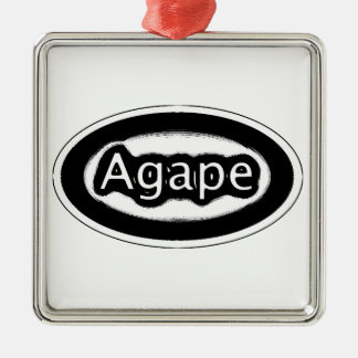 agape Silver-Colored square decoration
