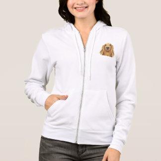 Agasalho fem. wool with pointed hood golden hoodie