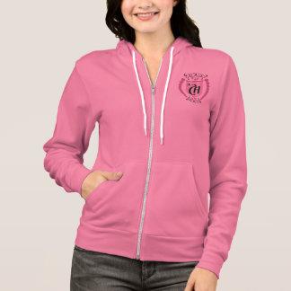 """#Agasalho Feminine woollen with Pointed hood """"CH """" Hoodie"""