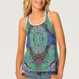 Agate1 Batik Women's All-Over Print Racerback Tank Tank Top