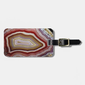 Agate Geode Pattern Luggage Tag