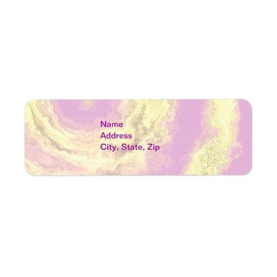 AGATE PINK & GOLD RETURN ADDRESS LABEL