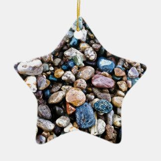 Agates Ceramic Star Decoration
