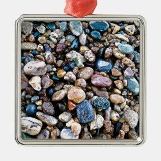Agates Silver-Colored Square Decoration