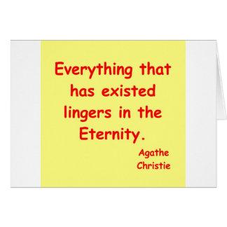 agatha christie eternity card