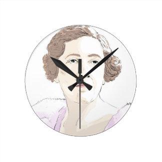 Agatha Christie Round Clock