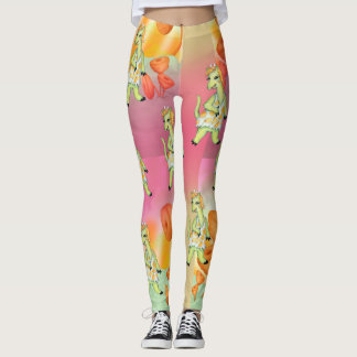 AGATHE ALIEN CUTE  MONSTER LEGGINGS