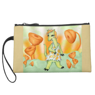 AGATHE CUTE ALIEN Sueded Mini Clutch Bag