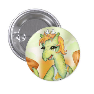 AGATHE  CUTE CARTOON Small, 1¼ Inch 3 Cm Round Badge