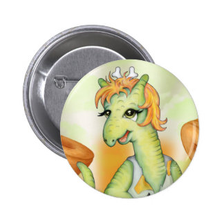 AGATHE  CUTE CARTOON Standard, 2¼ Inch 6 Cm Round Badge