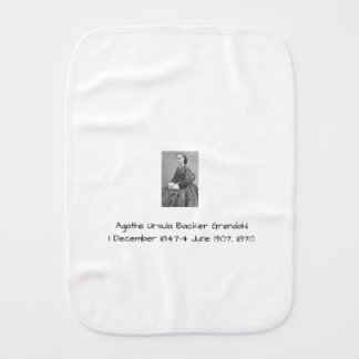 Agathe Ursula Backer Grondahl, 1870 Burp Cloth