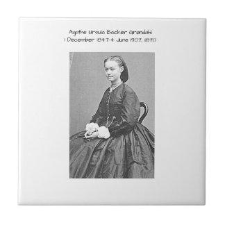 Agathe Ursula Backer Grondahl, 1870 Ceramic Tile