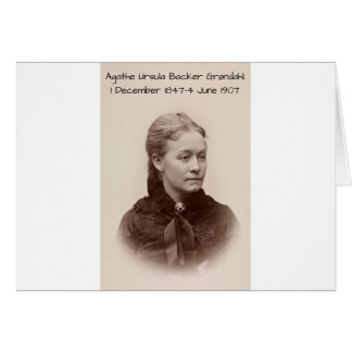Agathe Ursula Backer Grondahl Card