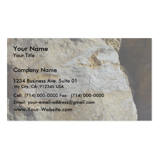 Agatified Bark In Limestone At Wanneroo Beach Business Cards