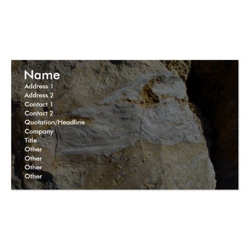 Agatified Bark In Limestone At Wanneroo Beach Business Card Template
