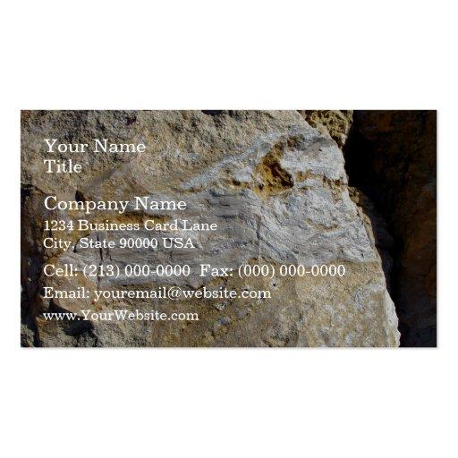Agatified bark in limestone business card template