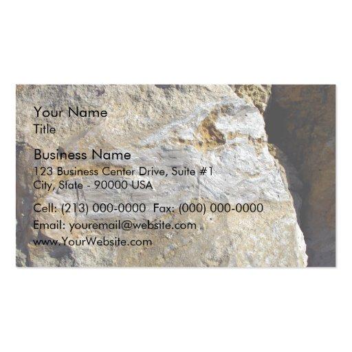Agatified bark in limestone business cards