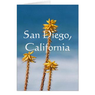Agave and Ocean. San Diego, California Card