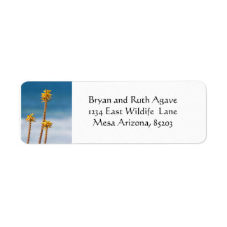 Agave by the ocean return address label