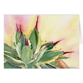Agave 'Cream Spike' watercolor, Debra Lee Baldwin Card
