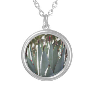 Agave Spikes Silver Plated Necklace
