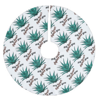 agave you my heart brushed polyester tree skirt