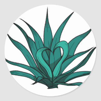 agave you my heart classic round sticker