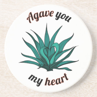agave you my heart coaster