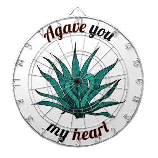 agave you my heart dartboard
