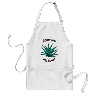 agave you my heart standard apron